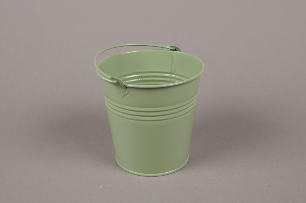 A374KM Bucket zinc green D15cm H14cm