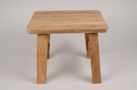 A374U7 Natural wood stool 30x40cm H34cm