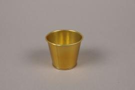 A378KM Gold zinc planter D6cm H5.5cm