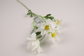 a378nn Marguerite artificielle blanche H60cm