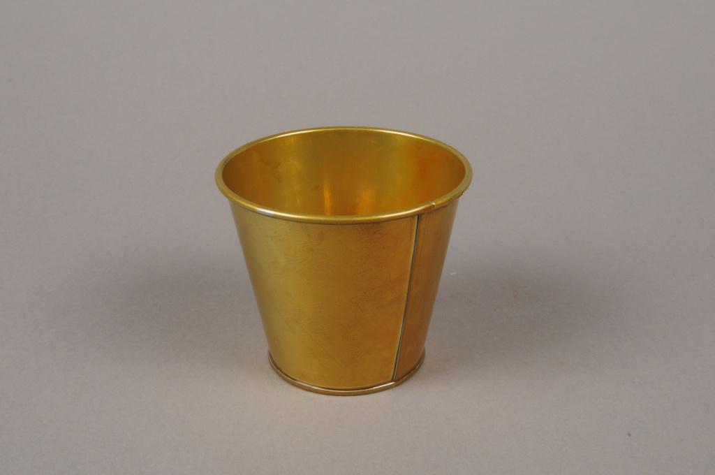 A379KM Cache-pot en zinc or D8.5cm H8cm