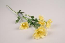 a379nn Marguerite artificielle jaune H60cm