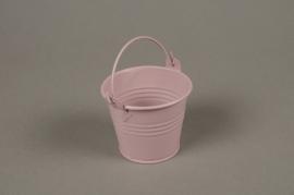 A383KM Cache-pot en zinc rose D6.5cm H5.5cm