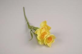 a383nn Narcisse artificielle jaune H36cm