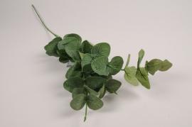 a384nn Branche d'eucalyptus artificiel vert H77cm