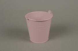 A385KM Cache-pot en zinc rose D11cm H11cm