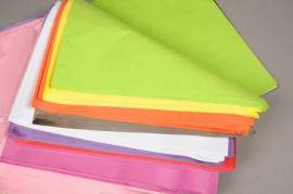 A385QX Paquet de 480 feuilles papier de soie multicolore 50 x 75cm