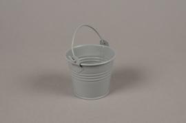 A393KM Cache-pot en zinc gris clair D6.5cm H5.5cm
