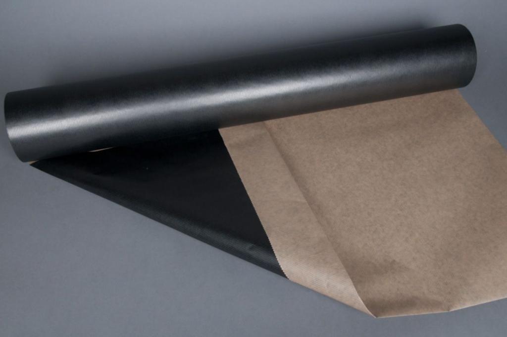 A394QX Rouleau de papier kraft noir 80cmx120m