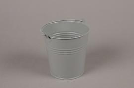 A395KM Cache-pot en zinc gris clair D11cm H11cm