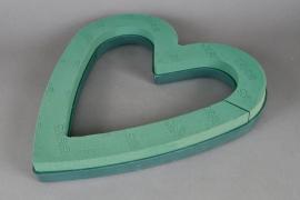 A395QV Open heart floral foam D43cm