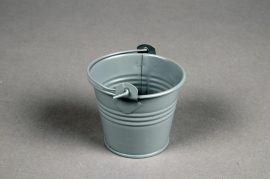 A398KM Zinc bucket matte grey D6cm H5,5cm