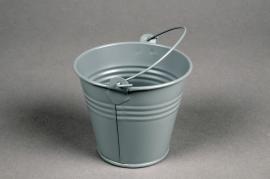 A399KM Zinc bucket matte grey D8cm H7cm