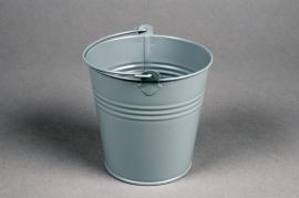 A400KM Seau en zinc gris mat D11cm H10cm