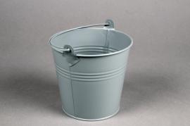 A401KM Zinc bucket matte grey D13cm H12cm