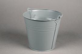 A402KM Zinc bucket matte grey D16cm H14cm
