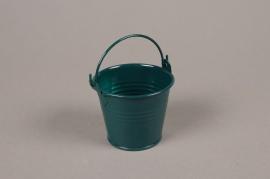 A403KM Cache-pot en zinc bleu canard D6.5cm H5.5cm