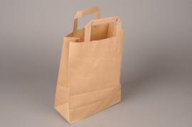 A404IX Bag of 50 bags kraft brown 22x10cm H28cm