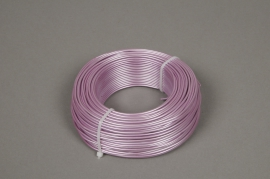 A406MG Roll of aluminium wire pink 2mm 60m