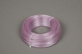 A406MG Rouleau de fil en aluminium rose 2mm 60m