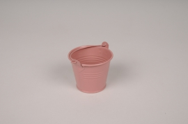 A408KM Shiny pink Bucket zinc D6.5cm H5.5cm
