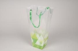 A409MO Paquet de 10 sacs en plastique muguet H45cm