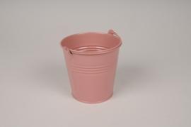 A410KM Seau en zinc rose brillant D11cm H10.5cm