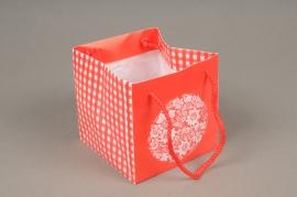 A411MO Paquet de 10 sacs PVC rouge H10cm
