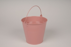 A412KM Shiny pink Bucket zinc D16cm H14.5cm