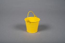 A413KM Seau en zinc jaune D6cm H5,5cm
