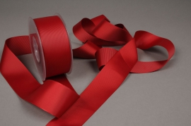 A413UN Grosgrain ribbon burgundy 38mm x 20m