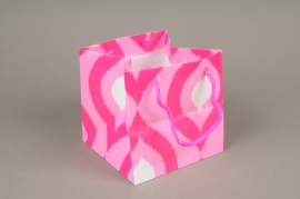 A414MO Paquet de 10 sacs PVC rose H14cm