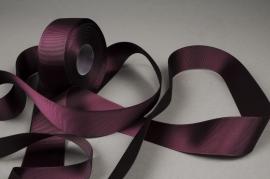 A414UN Grosgrain ribbon wine 38mm x 20m