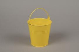 A415KM Cache-pot en zinc jaune D11cm H11cm