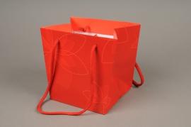 A415MO Paquet de 10 sacs PVC rouge H16cm