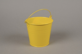 A416KM Yellow zinc planter D13cm H12cm