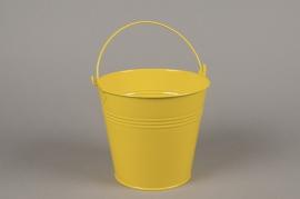 A417KM Cache-pot en zinc jaune D16cm H14cm
