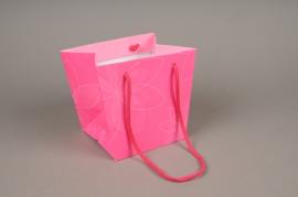A417MO Paquet de 10 sacs PVC rose H16cm
