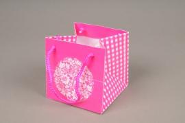 A418MO Paquet de 10 sacs PVC rose H10cm