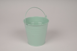 A420KM Bucket zinc green mint D11cm H10.5cm