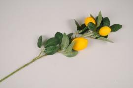 a425nn Artificial lemon branch H80cm