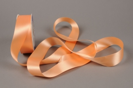 A429UN Satin ribbon peach 40mm x 25m