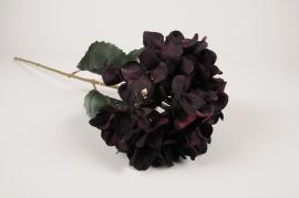a430nn Hortensia artificiel violet H70cm