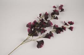 a437nn Branche de ginkgo artificiel violet H87cm