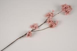 a438nn Branche de cerisier artificiel rose H85cm