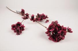 a439nn Purple artificial prunus branch H85cm