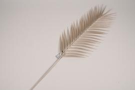 a441nn Silver artificial palm leaf H110cm