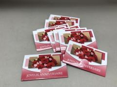 A443MQ Pack of 10 postcards Joyeux Anniversaire