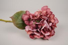 a444nn Hortensia artificiel rose H48cm