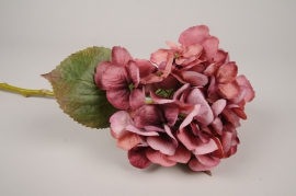 a444nn Pink artificial hydrangea H48cm